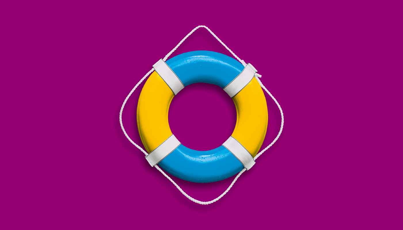 Life ring for beginner swimmer