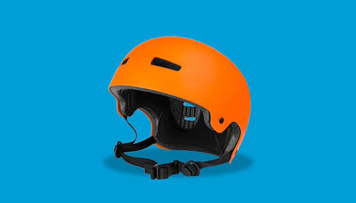 Orange helmet to protect your head